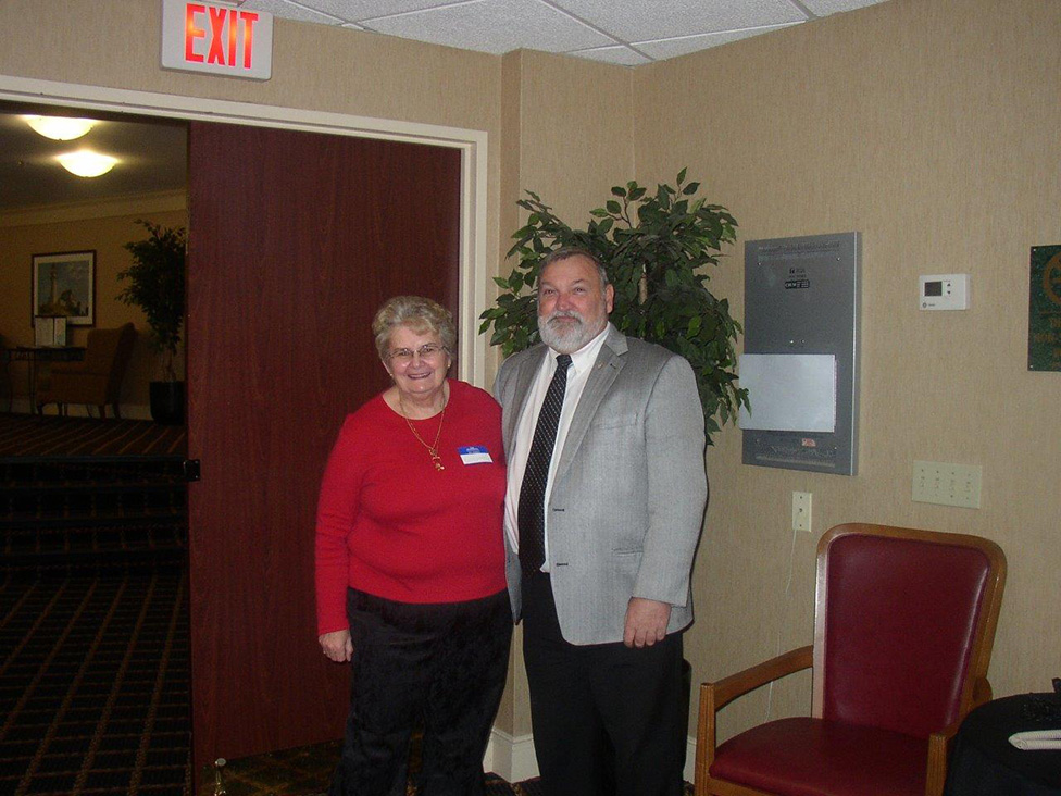 Norma with former NS Fisheries Minister Ron Chisholm.