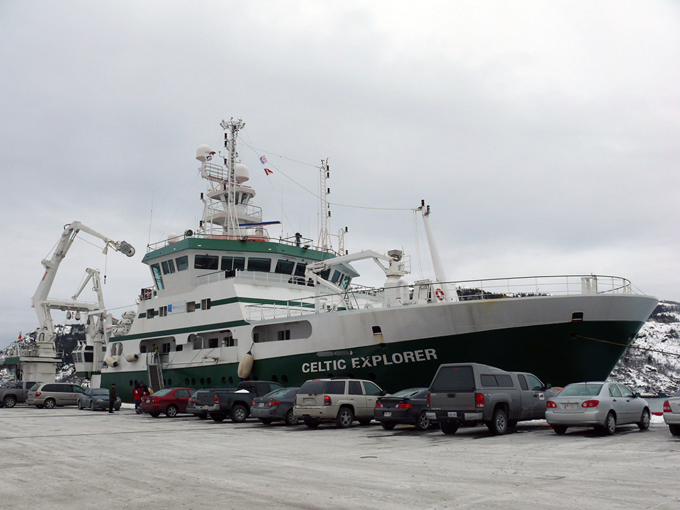 Recent cod surveys conducted by Dr. George Rose were carried out onboard the research vessel Celtic Explorer.