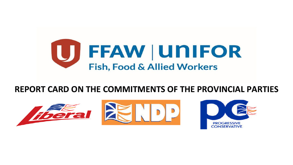 FFAW Releases Report Card on Provincial Party Commitments
