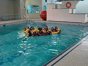 Marine Emergency Duties training in the pool. Contributed photo.