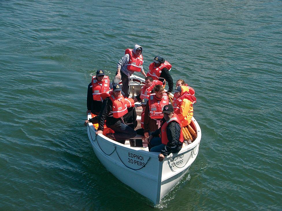 Marine Emergency Duties training in Chaleur Bay.