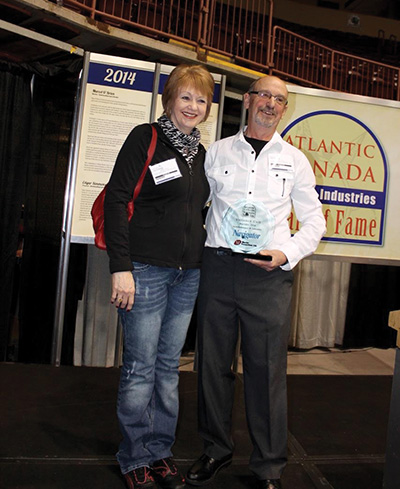 Jane and Val Cull at the Atlantic Canada Marine Industries Hall of Fame Awards in St. John's, November 2014. Val was awarded in the Builder category. The Hall of Fame Awards are sponsored by The Navigator Magazine and Master Promotions.