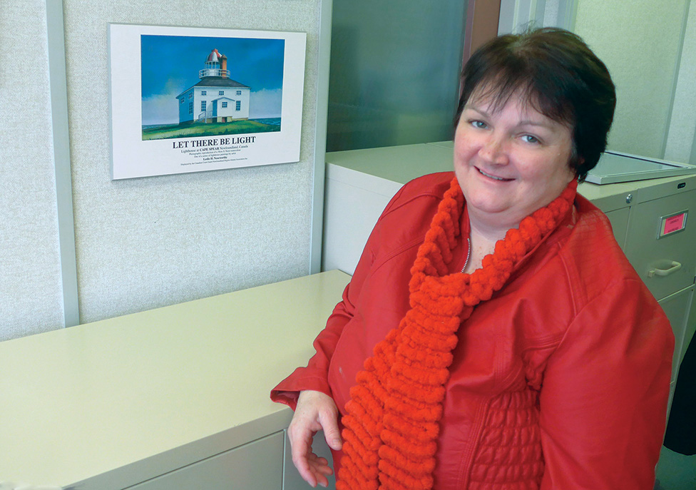 Denise Veber, Superintendent of Aids to Navigation. Denise has been working with the Canadian Coast Guard for 28 years.