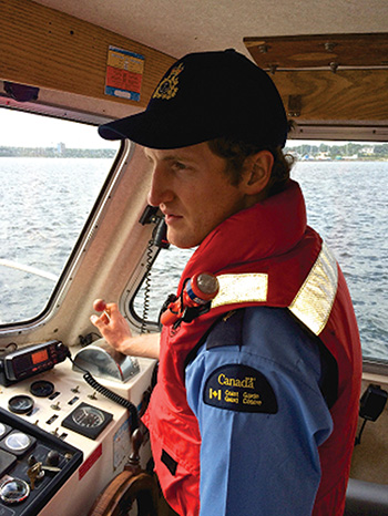 Peter Mitchell is a cadet at the Canadian Coast Guard College in Sydney, NS. Upon graduation, he will join a CCG vessel as a navigation officer.