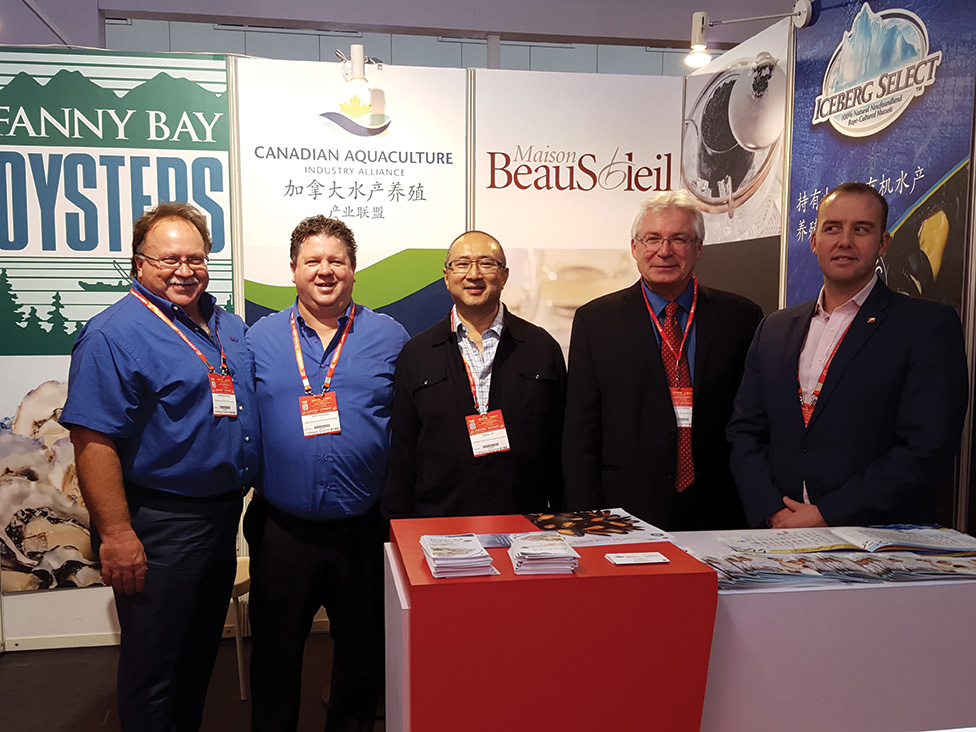 Canadian farmed seafood producers attending China Seafood Show 2015.