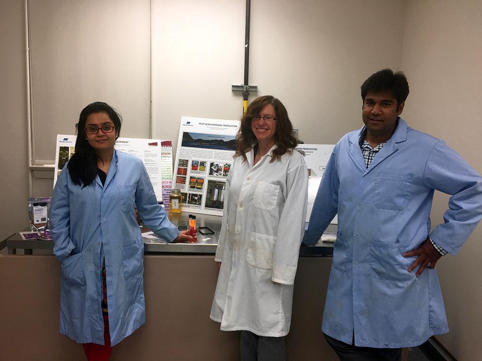 Left to right, Dr. Deepika Dave, Sheila Trenholm and Vegneshwaran Ramakrishnan.