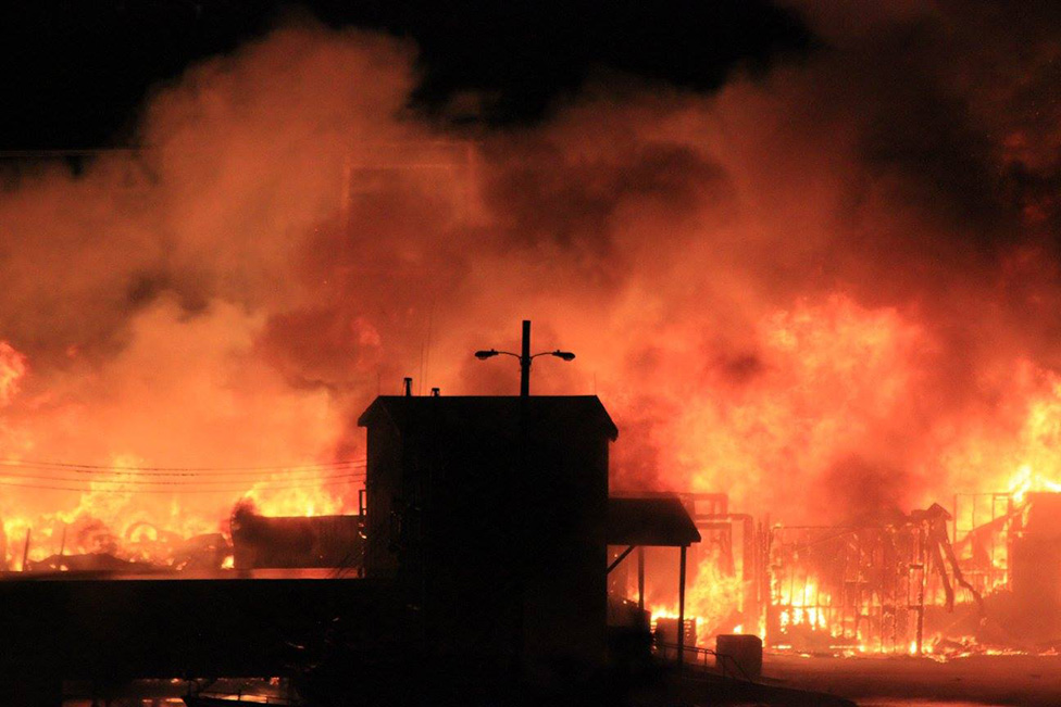 Ida Newhook - Normans Cove Fish Plant Fire 2016 - 2