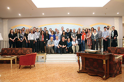 RIGHT: Members of the PrimeFish partner consortium pose for a photo during their first annual meeting.