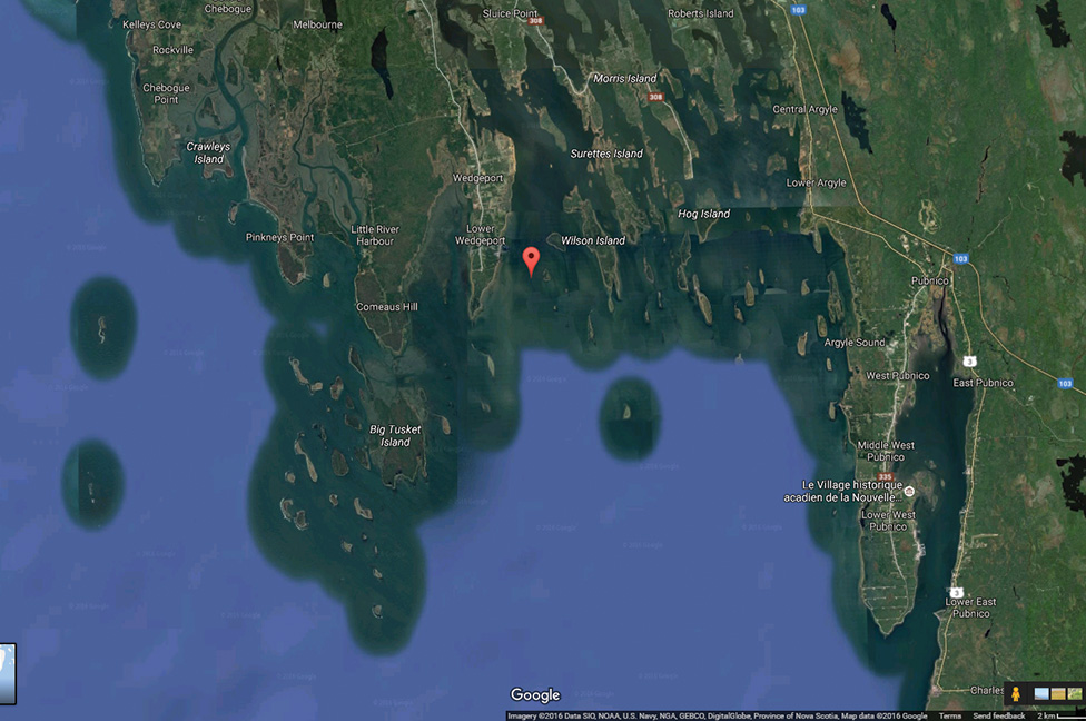 Location of Tusket River, N.S.