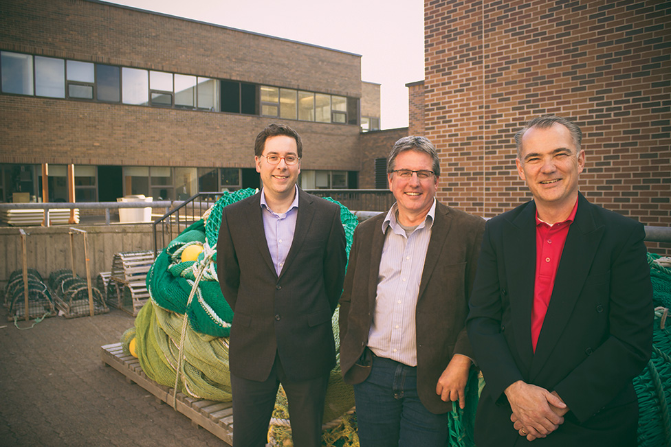 Drs. Jonathan Fisher, Noel Cadigan and Paul Winger are part of the newly created Ocean Frontier Institute (OFI).