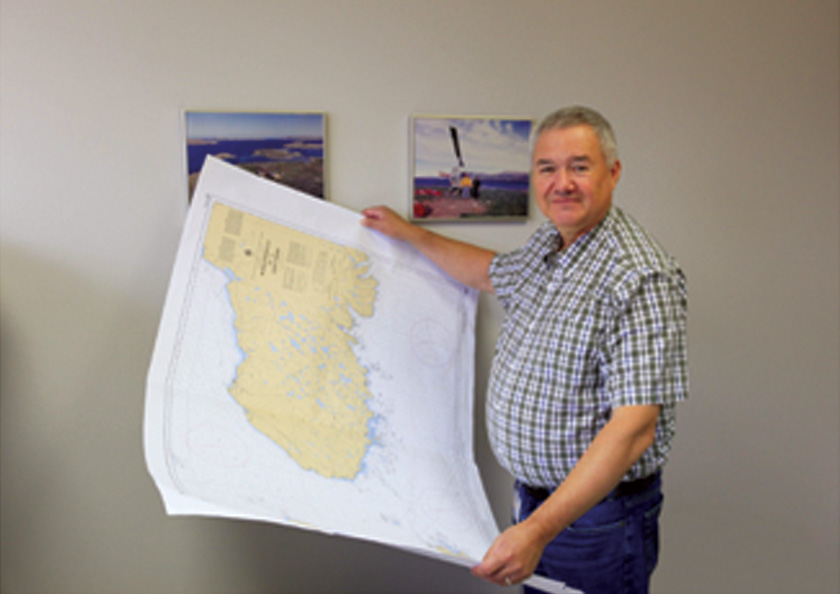 Gary Smith has worked for the Hydrographic Service (CHS) in Newfoundland and Labrador for 25 years and truly enjoys his work.